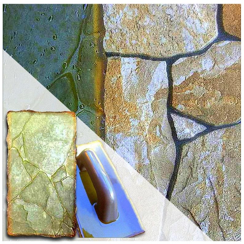Vertical-stamp-Stone-Decorative-Concrete-Cement-Imprint-Texture-Stamp-Mat     Ve