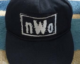 newest e5335 5e76c HULK HOGAN Nwo Vintage 90s New World Order WWF Wrestling Snapback cap. One  Size Fits All