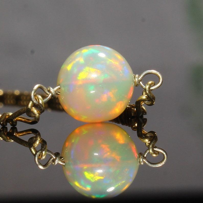 Natural Ethiopian Opal Necklace Multi Opal Balls Necklace Smooth Opal Balls Necklace Opal 925 Silver Necklace Opal Gemstone Necklace