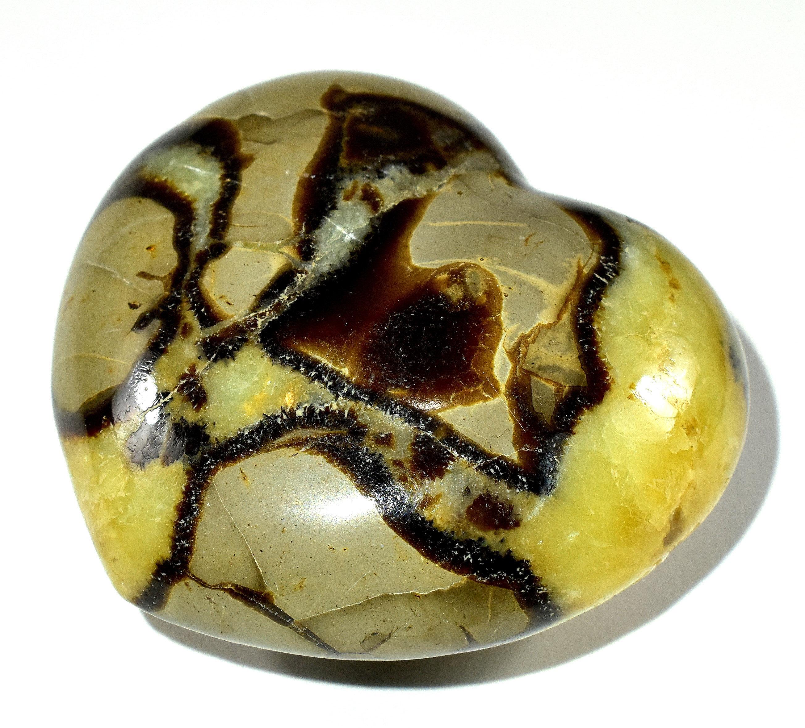 barite Septarian 69mm Sphere brown aragonite yellow calcite crystal sphere septarian sphere limestone septarian septarian nodule