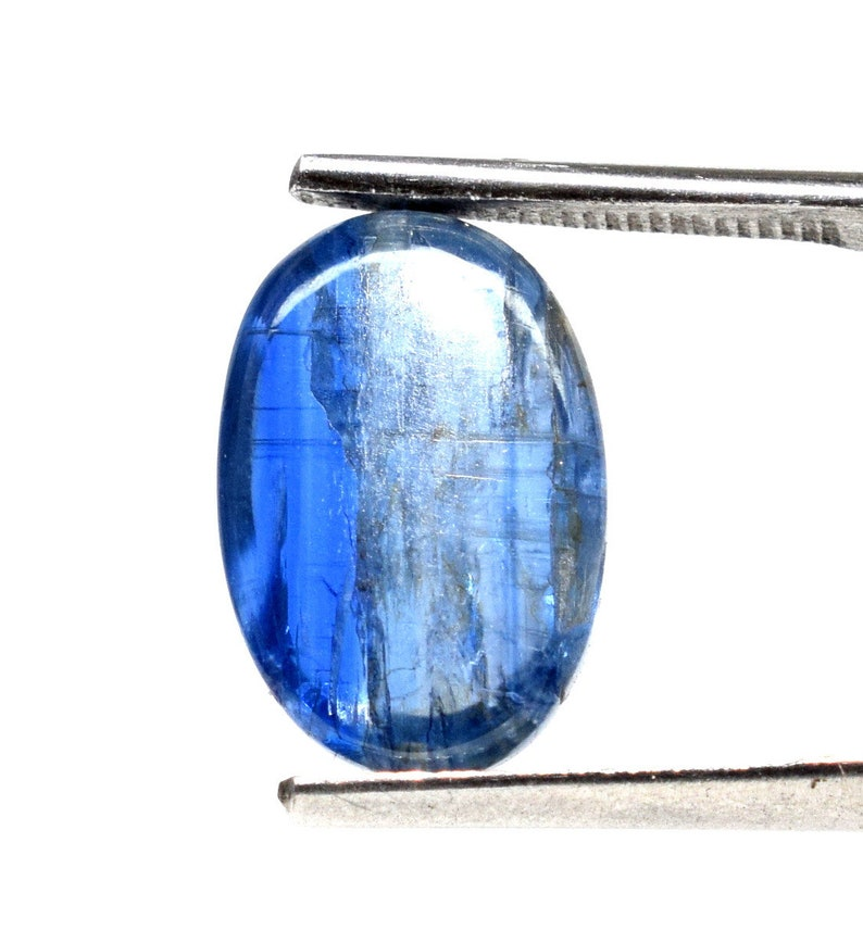 Lovely Translucent Blue Kyanite Cabochon Natural Unheated Untreated Polished 13x9mm 7 Carat Gemstone Crystal Mineral Specimen Cab