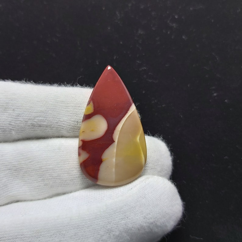 40x22x4mm 32 Cts Natural Mookaite Jasper Pear Cabochon Loose Stone