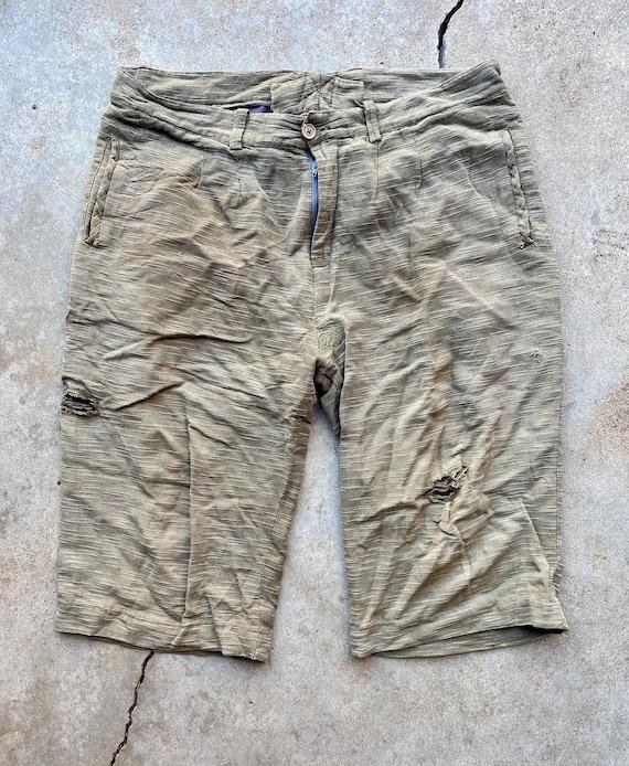 1940s Shorts  Perfect Summer Cotton Twill Shorts  vintage 40s shorts