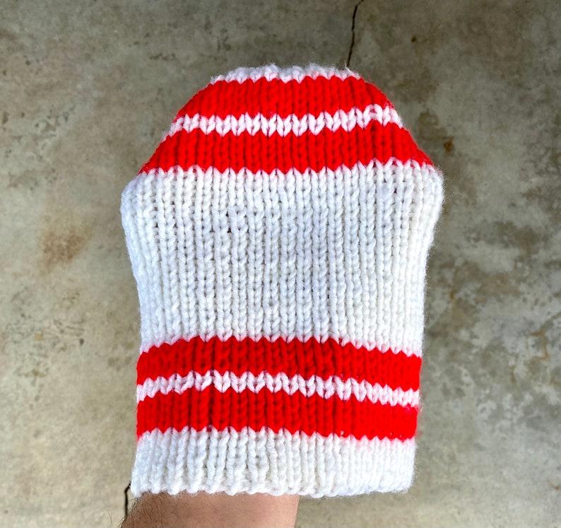 Vintage 70\u2019s Red /& White Winter Cap