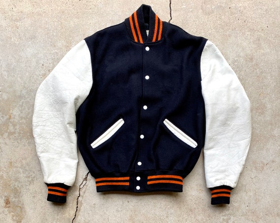 Vintage 80's DeLong Black and Orange Letterman/Var