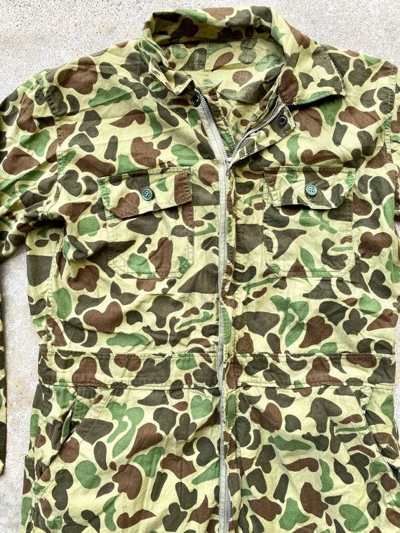 Vintage Zip Up Camouflage Flight Suit/ Jump Suit