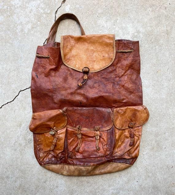 Vintage 60's Super Soft Leather Bucket Bag