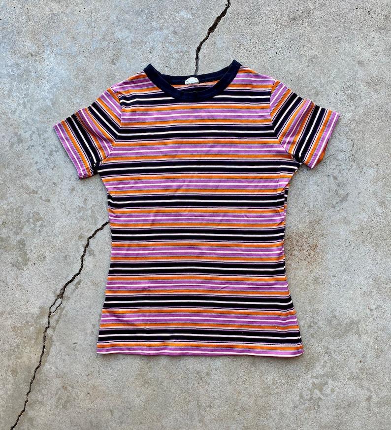 Vintage 70\u2019s Multi Colored Striped Shirt