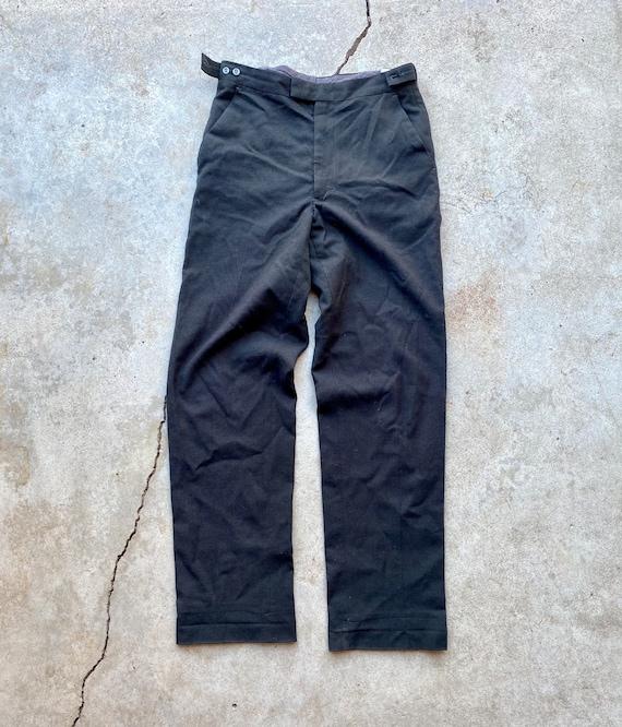 Vintage 40's Talon Zip Black Trousers