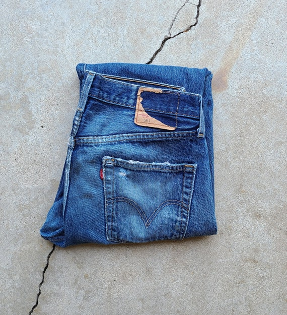 Vintage 90's Levi's 501 Distressed Jeans, 32x29