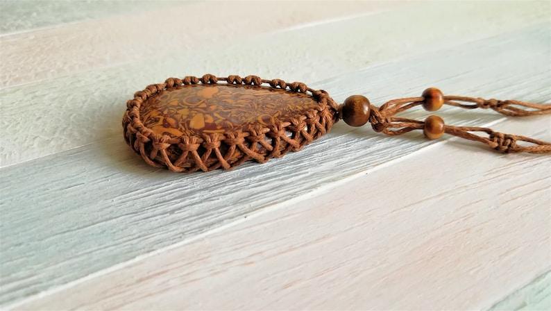 Shell jasper Elephant skin stone Fossilized seaweed positive energy necklace Cobra Stone Indian Script Stone MARIAM JASPER
