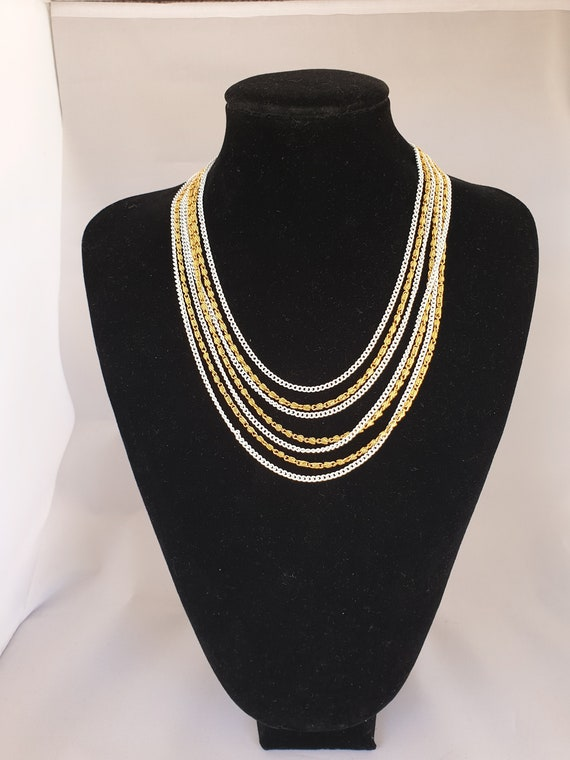 Crown Trifari multi chain necklace