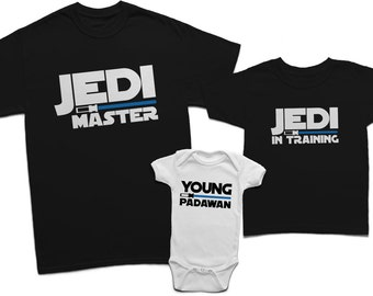 b62e88ad063ec9 Dad son jedi master and young padawan shirts, Daddy and son jedi, Matching  father and son, Jedi and padawan baby shirt, Dad and baby shirt