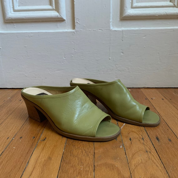Vintage Lime Green Mules
