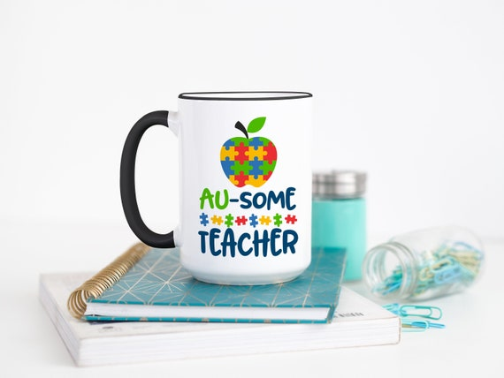 personalised autism special needs teacher christmas gift mug coaster thank you