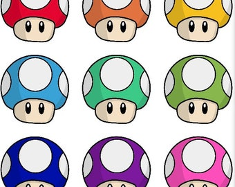 Mario Mushroom Stickers