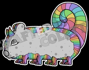 Rainbow Guinea Pig Monster Art Photo Print