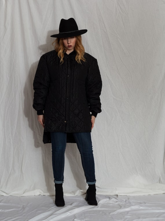vintage black liner jacket, vintage army liner jac