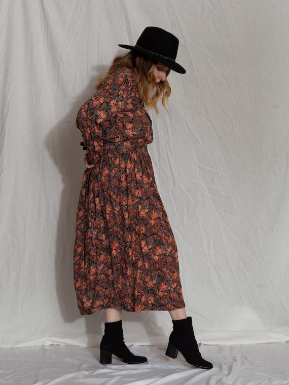 floral two piece set,vintage skirt set, 90s match… - image 6