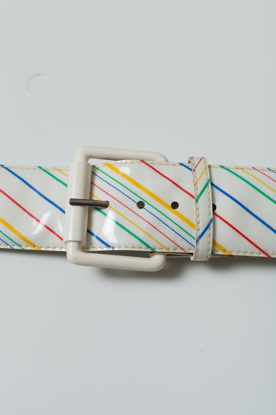 Classic 90/'s Vintage 90/'s Adjustable Rainbow Belt with Stickers