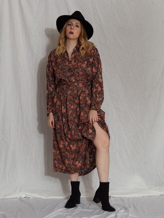 floral two piece set,vintage skirt set, 90s match… - image 7