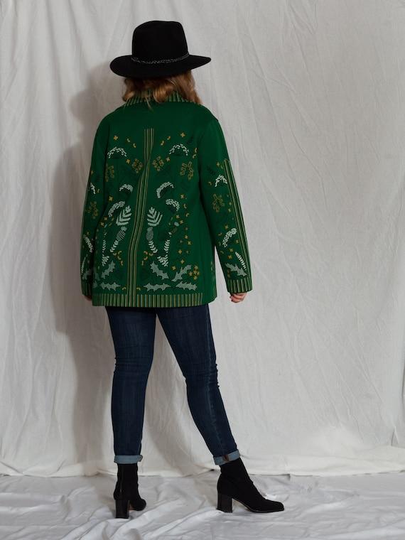 1970s green button up shirt, 1970s floral shirt, … - image 10