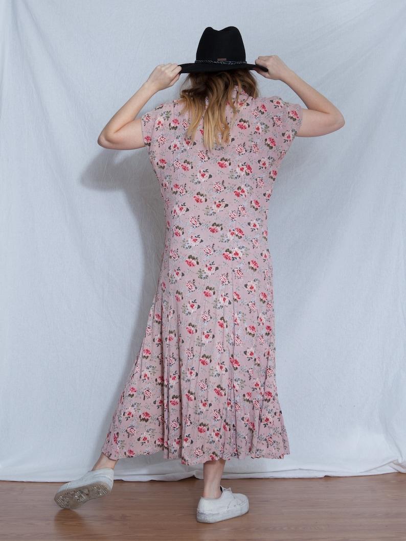 90s summer dress 90s floral maxi dress vintage maxi dress 90s summer vintage floral maxi dress 90s pink floral dress pink floral dress