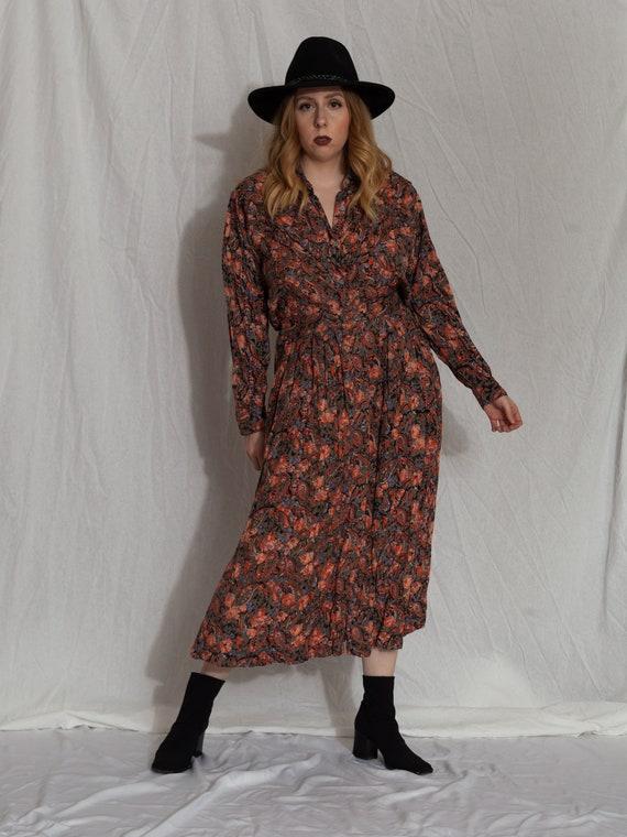 floral two piece set,vintage skirt set, 90s match… - image 3