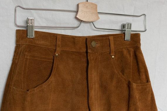 vintage brown suede midi skirt, fitted skirt, skir