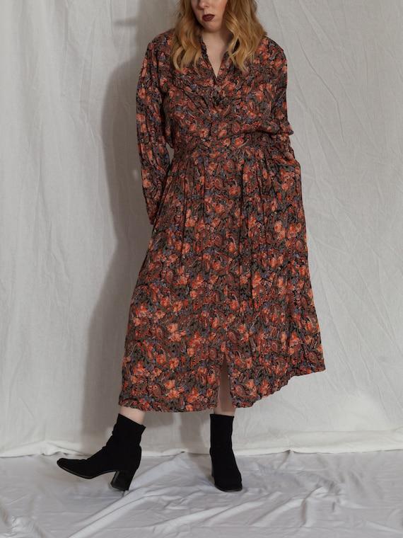 floral two piece set,vintage skirt set, 90s match… - image 8