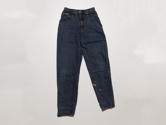 vintage dark blue acid wash jeans, 90s stone wash