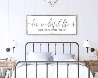 Above Bed Signs Etsy