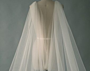 CHLOE cape, Cape veil, simple cape veil, plain cape, long cape veil, long veil, cathedral veil, wedding veil, bridal veil, custom veil