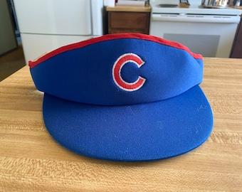 923dee06 Vintage Chicago Cubs Visor~Retro Visor~1980s