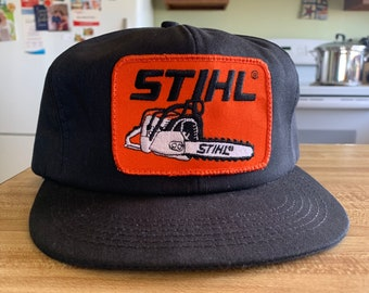 482630e038797 Vintage 1980s Stihl Chainsaw Trucker Hat~ Insulated Padded~ SnapBack