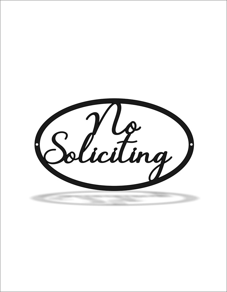 Porch Decor Father/'s Day Fall Porch Sign No Soliciting Metal Sign Outdoor No Soliciting Sign