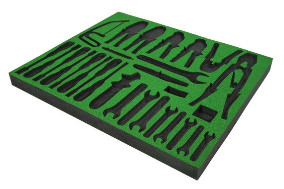 Organizador para la caja de herramientas Shadow Foam Verde Pieza de esumpa 50mm