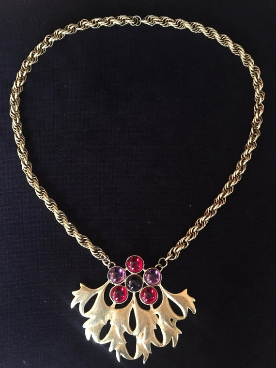 Loris Azzaro signed necklace and pendant