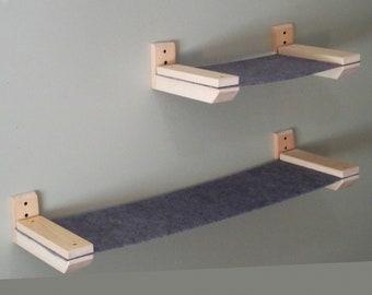 Cat Wall Furniture / Cat Furniture / Cat Hammock / Cat Bed / Play Furniture / Cat Step / Pet Toys / Feline Furniture / Cat Climber / Perch