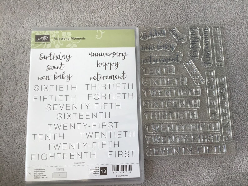 Milestone Moments NEW Stampin up Set of 18 photopolymer