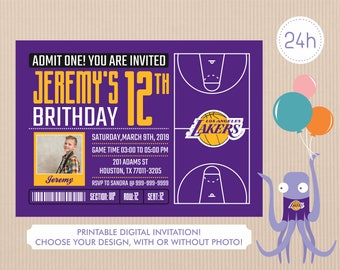 photo about Lakers Printable Schedule identify Lakers printable Etsy