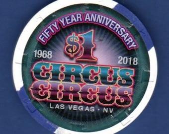 Las Vegas Circus Circus Casino 1.00 Chip UNCIRCULATED