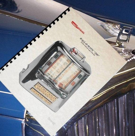 SEEBURG WALL-O-MATIC 100 Jukebox Service MANUAL 3W1 and 3W1D