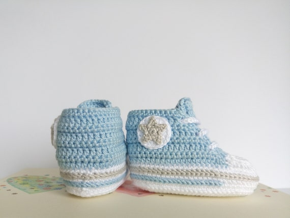 HAT OR MITTENS shower gift shoes new mitts HAND CROCHETED BLUE BABY BOY BOOTIES