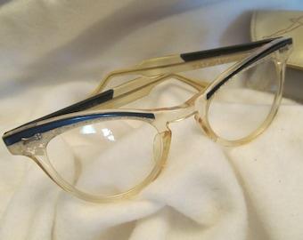 e7c099e34 Cool Cat Eye Glasses and Glass Case ,Childs Cat Eye Glasses from the 50's,Cat  Eye Glasses for Children,Fun Eye Glasses for Kids,1950's Style