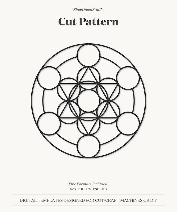 for Silhouette /& Cricut decals clip art paper cut svg dxf png eps DIY card making Geometric Line Art file digital scrapbooking