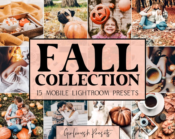 Featured listing image: FALL COLLECTION - Lightroom Mobile Presets Photo Editing for Bloggers & Influencers