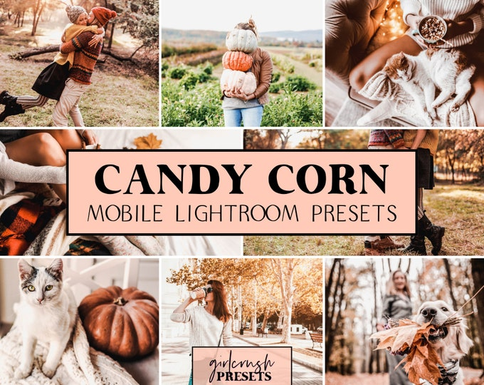 Featured listing image: Mobile Lightroom Presets - CANDY CORN Lightroom Mobile Presets Photo Editing for Bloggers & Influencers (Fall Collection)