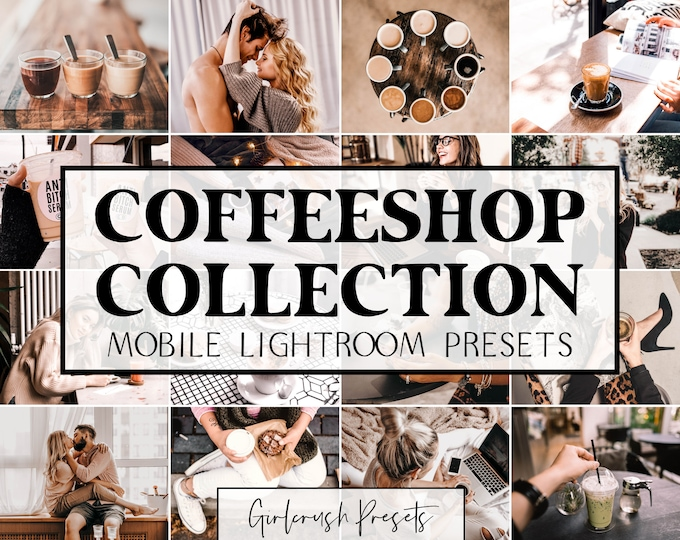 Featured listing image: COFFEESHOP COLLECTION - Lightroom Mobile Presets Photo Editing for Bloggers & Influencers