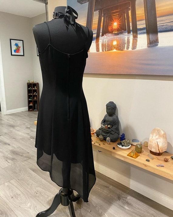 1990s Gunne Sax Asymmetrical Goth Dress - image 4